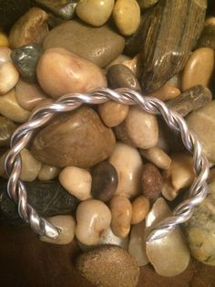 Twisted sterling cuff