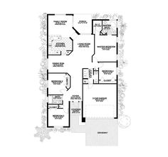 Florida House Plan First Floor - 106D-0032 | House Plans and More