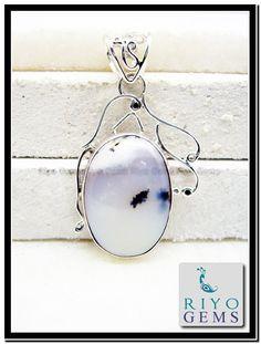 Dendrite Opal Silver Pendant http://www.riyogems.com/