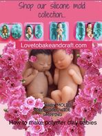 These molds moulds are perfect for Polymer clay Fimo Sculpey Wax Clay and other art How To Make Ac, Baby Mold, Cake Decorating With Fondant, Baby Cake Topper, Miniature Dolls, Miniature Fairies, Fondant Baby, Clay Baby, Polymer Clay Dolls