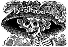 Calavera_de_la_Catrina_by_Posada.jpg MIME type: image/jpeg) Calavera de la Catrina ((before by Posada La Danse Macabre, Catrina Tattoo, Sketch Manga, Day Of The Dead Art, Skeleton Art, Mexican Skeleton, Ouvrages D'art, Diego Rivera, Mexican Folk Art
