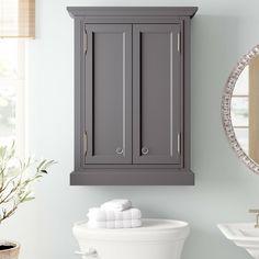 Grey Bathroom Cabinets, Grey Cupboards, Wall Mounted Bathroom Cabinets, Wood Bathroom, Single Bathroom Vanity, Lake Bathroom, Bathrooms, Basement Bathroom, Bathroom Storage