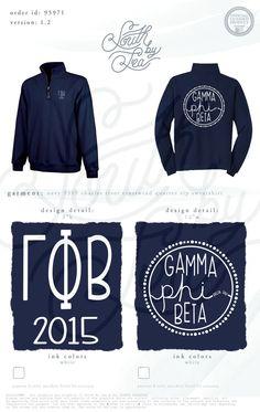 Gamma Phi Beta | GPhiB | GPhi | South by Sea | Greek Tee Shirts | Greek Tank Tops | Custom Apparel Design | Custom Greek Apparel | Sorority Tee Shirts | Sorority Tanks | Sorority Shirt Designs