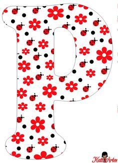 Flowers and Ladybugs Free Alphabet. Alfabeto de Flores y Mariquitas. Scrapbook Letters, Baby Scrapbook, Applique Designs Free, Alphabet Templates, Diy And Crafts, Paper Crafts, Doodle Icon, Alphabet Print, Class Decoration