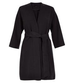 Black Belted Kimono Jacket  | New Look