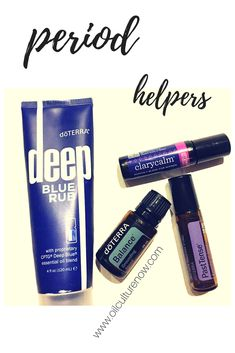 Need some helpers for that not so fun time of the month? Ya!  Gimme all the oils!!