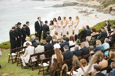 What an amazing view during the ceremony!  Photo:  Josh Elliott Photography.  Venue:  Darlington House in La Jolla, CA