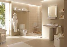 Duravit - Bathroom design series: Starck 3 - washbasins, toilets, bidets and urinals from Duravit. Contemporary Bathrooms, Modern Bathroom, Small Bathroom, Bathroom Ideas, Bathroom Remodeling, Complete Bathrooms, Cheap Bathrooms, Interior Design Shows, Bathroom Interior Design