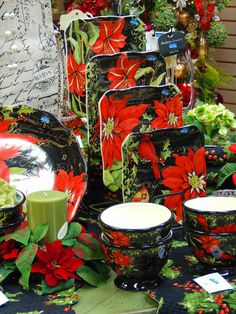 One of the table top patterns available at Trig's Floral and Home.