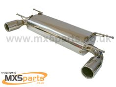 Dual Silencer - Stainless Steel Silencers - Mazda MX5 Mk3 and 3.5