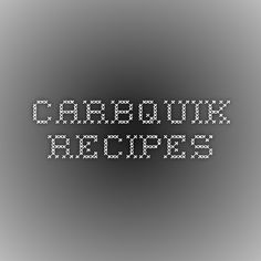 Carbquik Recipes - list of recipes, easy to find one