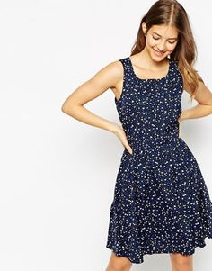 Pieces Sleeveless Printed Skater Dress $31 right now