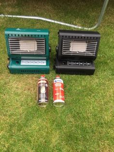 Two gas #camping #heater with gas #canisters,  View more on the LINK: 	http://www.zeppy.io/product/gb/2/322245319861/
