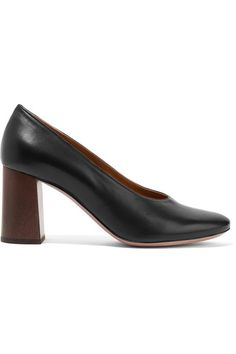 Heel measures approximately 70mm/ 3 inches Black leather Slip on Made in ItalyAs seen in The EDIT magazine