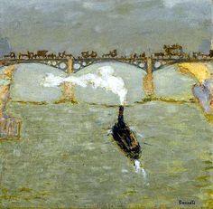 Pierre Bonnard / REMORQUEUR, PONT SUR LA SEINE