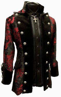 SHRINE GOTHIC VAMPIRE GOTH VICTORIAN VERSAILLES PIRAT COAT JACKET LESTAT VELVET #SHRINE #COAT
