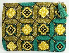 Tassel Zippered Clutch-Ankara by FearlessThreads on Etsy