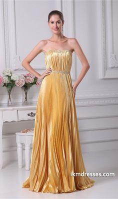 Summer Floor-Length Silk-like Satin Pleats Bridesmaid Dress http://www.ikmdresses.com/Summer-Floor-Length-Silk-like-Satin-Pleats-Bridesmaid-Dress-p20716