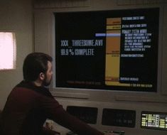 Riker is disappointed.