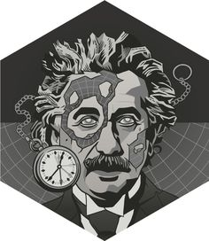 """Einstein"", The genius of physics. Changed how we see matter and energy, motion, space and time. Science Tumblr, Science Geek, Science Art, Special Relativity, Art Tumblr, Science Illustration, Proverbs 31 Woman, Charles Darwin, Science Classroom"