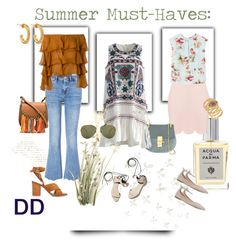 DivaDebbi's Summer Must-Haves by divadebbi on Polyvore featuring polyvore, fashion, style, Chicwish, Balmain, MANGO, M.i.h Jeans, Gianvito Rossi, Chloé, Jennifer Fisher, T+C by Theodora & Callum, Linda Farrow, Acqua di Parma, Umbra, Pier 1 Imports, 3.1 Phillip Lim and clothing