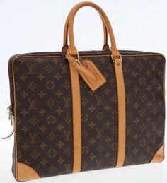 c86756581446 Louis Vuitton Classic Monogram Canvas Porte-Documents Voyage TopHandle Bag.  Monogram Canvas, Laptop