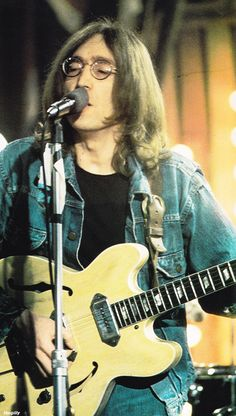 John performing at the Rolling Stones' Rock and Roll Circus, 11 December 1968
