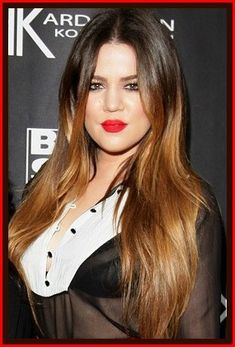 Khloe Kardashians hair color is a great example of a color technique called ombre. With this technique the color gradually fades into another color. Hairstyles Haircuts, Down Hairstyles, Khloe Kardashian Ombre, Celebrity Haircuts, Woman Crush, Cut And Color, Ombre Hair, Her Hair, Natural Hair Styles