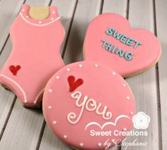 Swimming theme Valentine Cookies