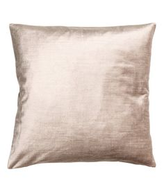 Light beige. Cushion cover in velvet made from a cotton and viscose blend with a concealed zip.