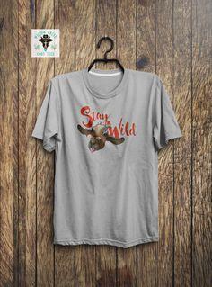 b97d497ec2 Stay Wild Goat T-Shirt - Funny Goat Shirts - Kiko Goat - Goat Gifts -  Livestock Apparel - Funny Animal Shirts - Goat Face - Goat Art