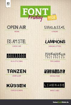 Font-Friday #1 - Summertime