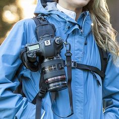 The StrapShot Keeps the Camera Secured to Your Bag Strap #hiking trendhunter.com