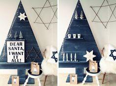 Tannenbaum-aus-Holz-DIY Weihnachtsdeko Biancas Wohnlust Weihnachten