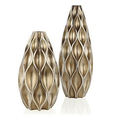 Modern Sequence Vases are dipped in a timeless champagne finish for a glam chic look. $49.95 - $59.95 #ZGallerie