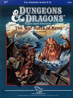 X7 The War Rafts of Kron (Basic) | Book cover and interior art for Dungeons and Dragons Basic and Expert Editions - Dungeons & Dragons, D&D, DND, Basic, Expert, 1st Edition, 1st Ed., 1.0, 1E, OSRIC, OSR, Roleplaying Game, Role Playing Game, RPG, Wizards of the Coast, WotC, TSR Inc. | Create your own roleplaying game books w/ RPG Bard: www.rpgbard.com | Not Trusty Sword art: click artwork for source