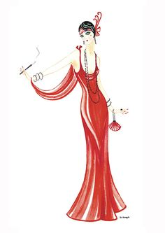 Art Deco Ladies | Art Deco Lady - Daphne Painting
