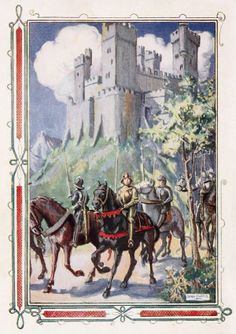 """Dora Curtis, from """"The Stories of King Arthur and his Round table"""" by Beatrice Clay 1931"""