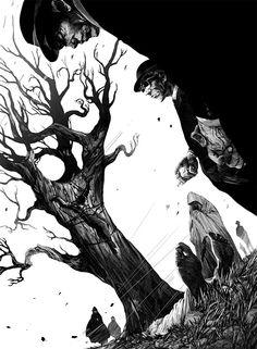 Ink and Scratchboard Illustrations by Nico Delort | Inspiration Grid | Design Inspiration