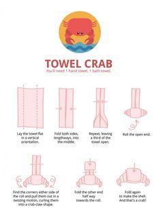 Crab Towel - how cute!!!