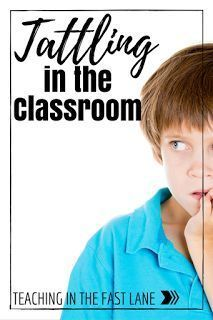 Actionable tips to put a stop to tattling in your classroom!