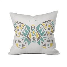 Dot & Bo Pastel Geometric Fly Away Pillow (€26) ❤ liked on Polyvore featuring home, home decor, throw pillows, geometric home decor, pastel home decor, pastel throw pillows, modern home accessories and aztec throw pillows