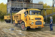'Clydesdale Workhorse' by Paul Atchinson - An Albion Clydesdale four-wheeled tipper belonging to Hoveringham Gravels