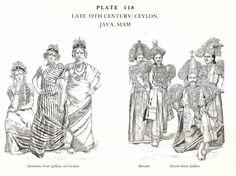 Late 19th Century Ceylon, Java, Siam