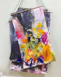 Collaborative canvas pieces #artideas #collaborativeart #ECE