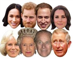 Details about Royal Wedding 2018 Face Masks - Royal Family 8 Pack incl Harry & Meghan - Party Royal Wedding 2018 Face Masks - Royal Family 8 Pack incl Harry & Meghan - Party