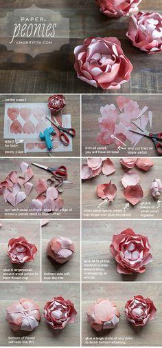 DIY Paper Peony | #DIY #Crafts