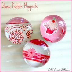 DIY Glass Pebble Magnets Tutorial - So simple and sweet. {Mellywood's Mansion}
