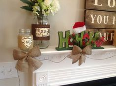 Burlap Bow Garland - Somewhat Cheater Method...