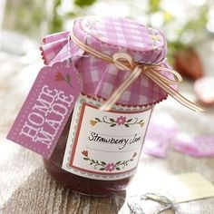 Strawberry jam in a cute jar